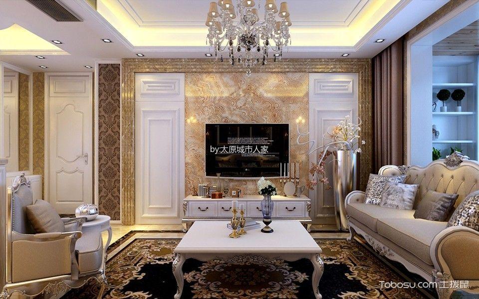 欧式风格170平米三室两厅室内装修效果图
