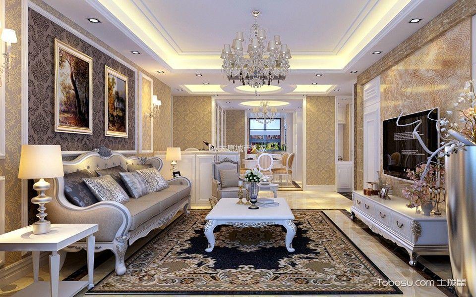 客厅 茶几_欧式风格170平米三室两厅室内装修效果图
