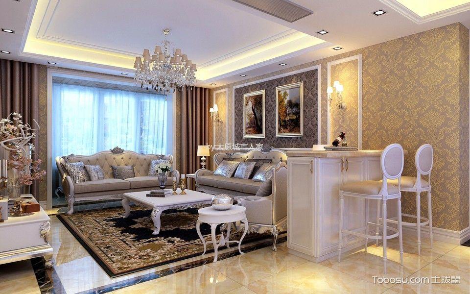 客厅 窗帘_欧式风格170平米三室两厅室内装修效果图