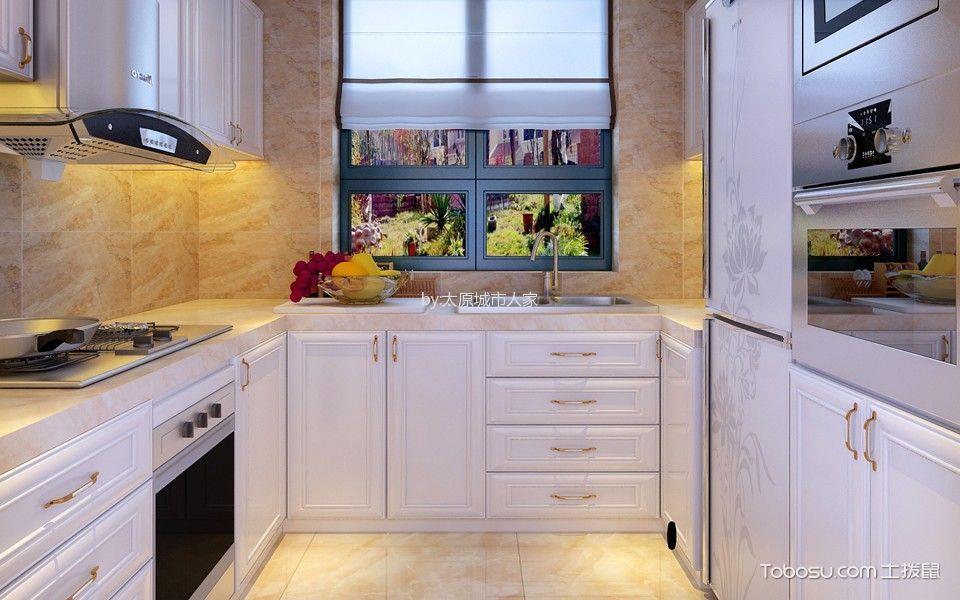 厨房 橱柜_欧式风格170平米三室两厅室内装修效果图