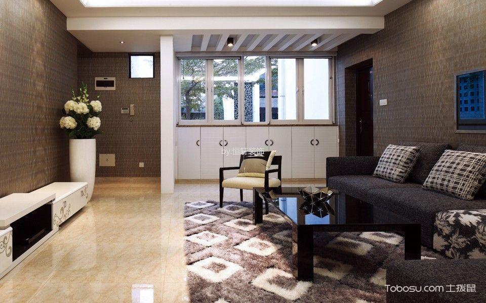 现代简约风格110平米2房2厅房子装饰效果图