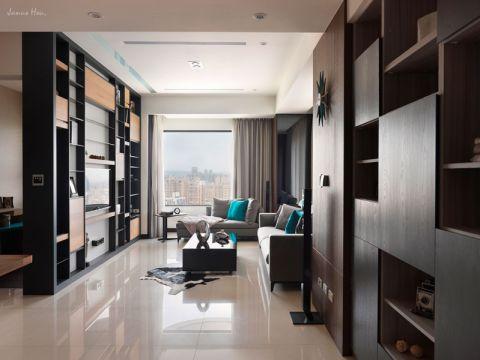 现代简约风格110平米三房两厅新房装修效果图