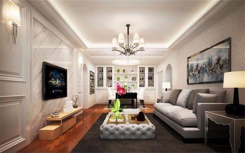 简约风格130平米3房2厅房子装饰效果图