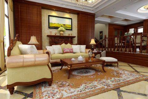 欧式风格134平米三房两厅新房装修效果图