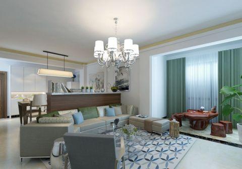 现代简约风格150平米三室两厅室内装修效果图