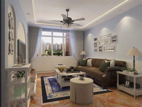 地中海风格110平米3房2厅房子装饰效果图