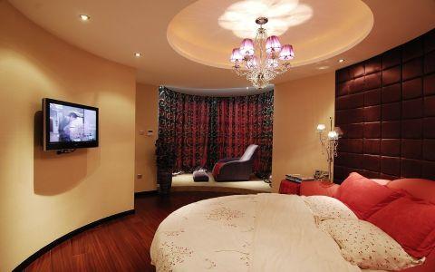 卧室窗帘新中式风格装饰图片
