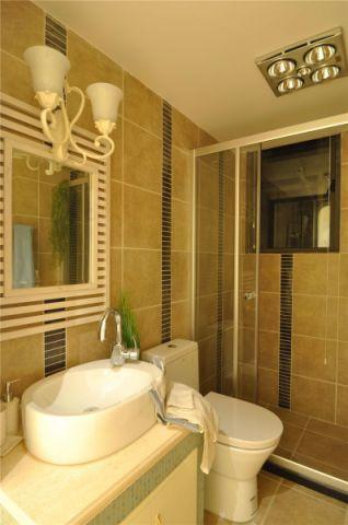 卫生间背景墙地中海风格装饰设计图片