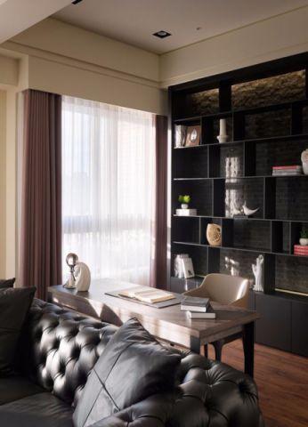 书房博古架现代风格装潢设计图片