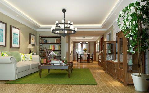 美式风格160平米三室两厅室内装修效果图