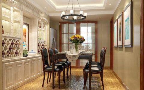 餐厅博古架美式风格装潢图片