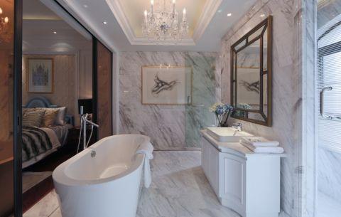 卫生间背景墙现代欧式风格装潢效果图