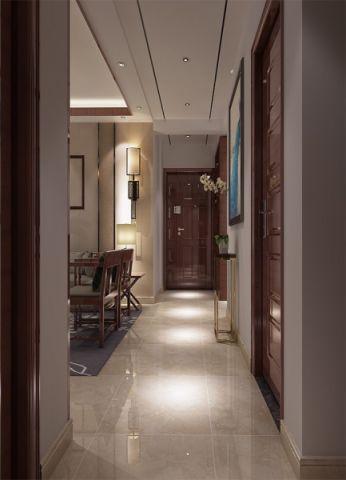 玄关走廊中式风格装潢效果图