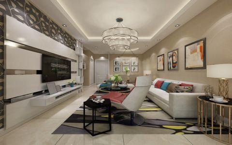 现代简约风格70平米2房2厅房子装饰效果图