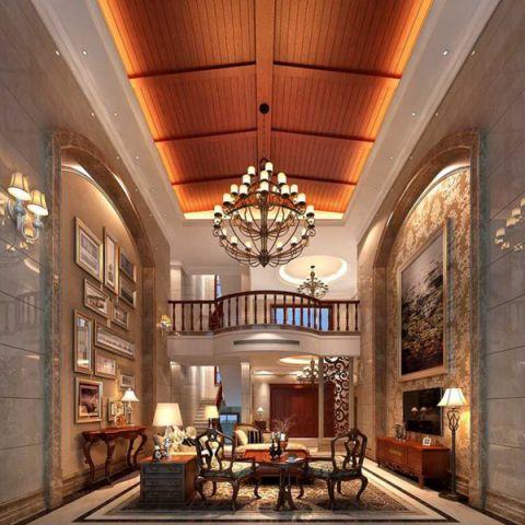 客厅灯具欧式风格装饰图片
