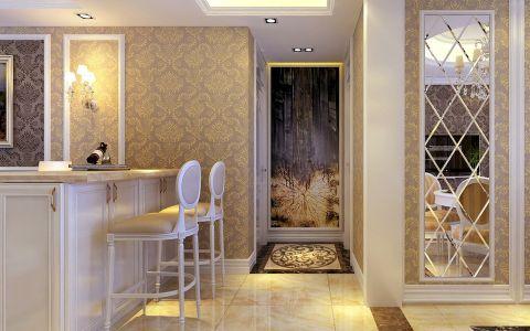 客厅吧台欧式风格效果图
