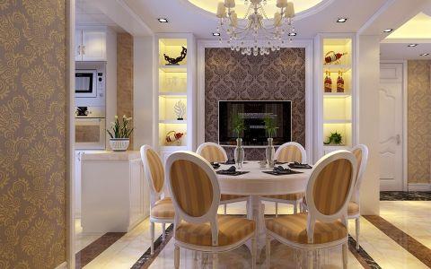 餐厅博古架欧式风格装饰效果图