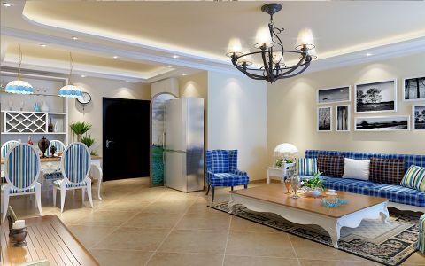 地中海风格150平米大户型室内装修效果图