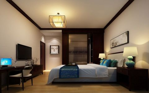 中式风格180平米楼房室内装修效果图