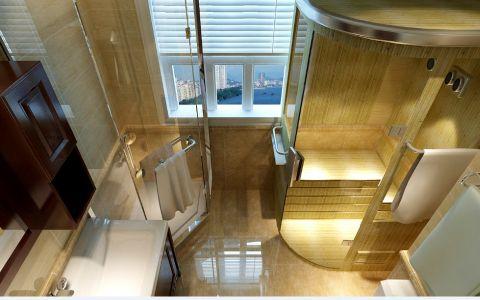 卫生间窗帘现代风格装修图片