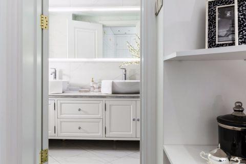 卫生间洗漱台简欧风格装饰效果图