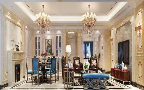 简欧风格200平米四房两厅新房装修效果图