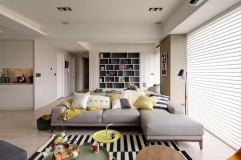 北欧风格100平米三室两厅室内装修效果图