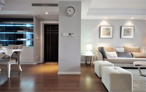 简欧风格110平米三室两厅室内装修效果图