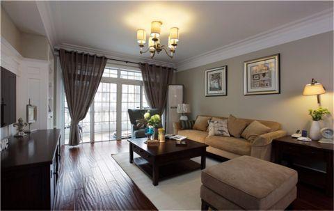 客厅灯具简约风格装潢设计图片