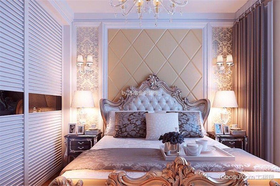卧室白色衣柜简欧风格效果图