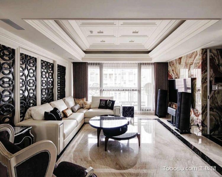 新古典风格130平米三室两厅室内装修效果图