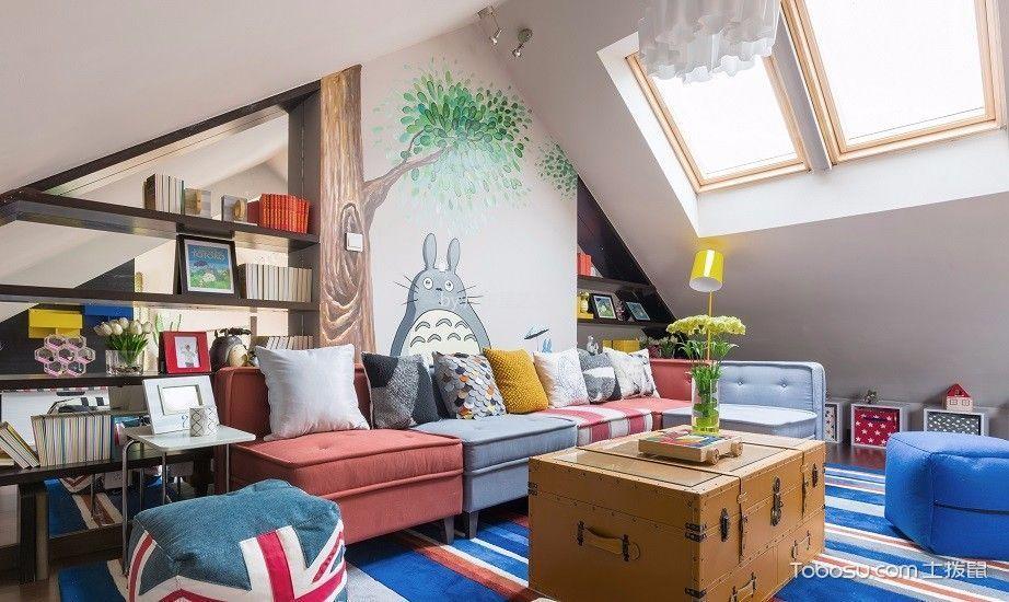 客厅白色阁楼现代风格装饰效果图