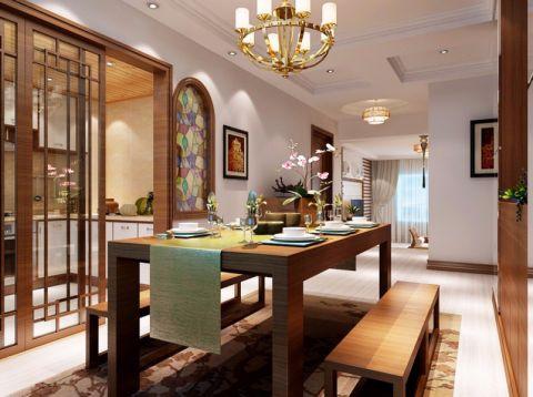 餐厅推拉门东南亚风格装修效果图