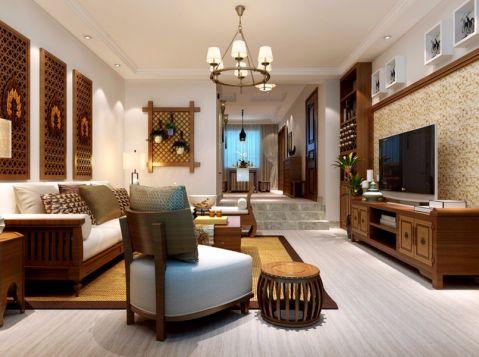 2019东南亚150平米效果图 2019东南亚三居室装修设计图片