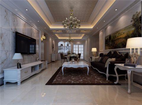 简欧风格151平米大户型室内装修效果图