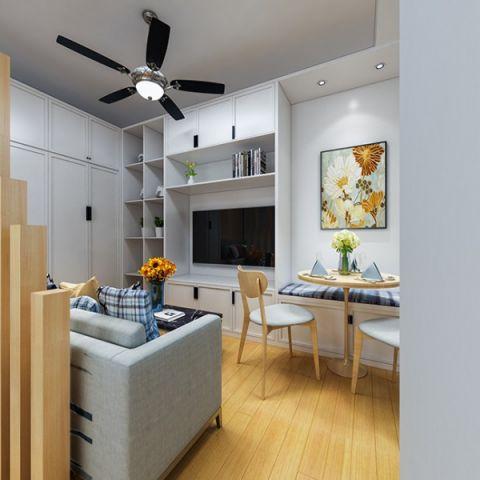 简约风格50平米小户型室内装修效果图