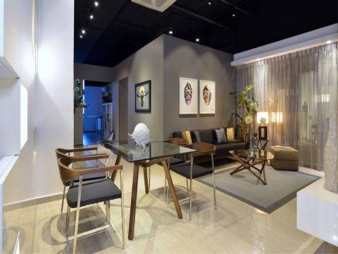 混搭风格80平米两室两厅室内装修效果图