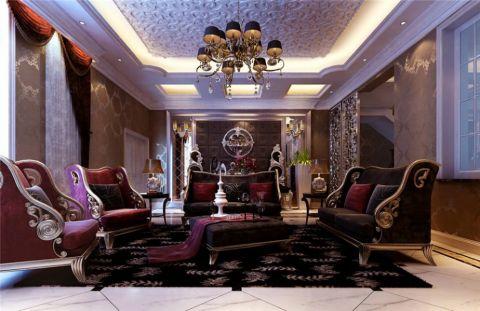 奥龙观邸二期双拼别墅322平欧式古典风格效果图