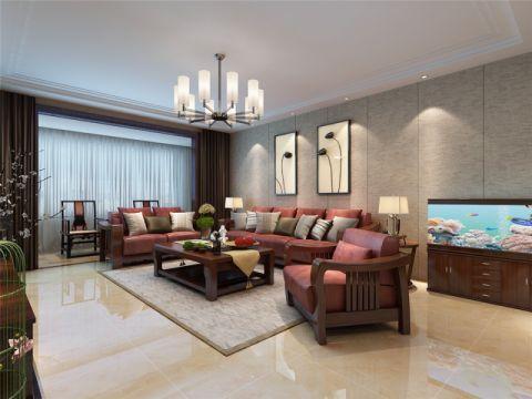 中式风格170平米三房两厅新房装修效果图