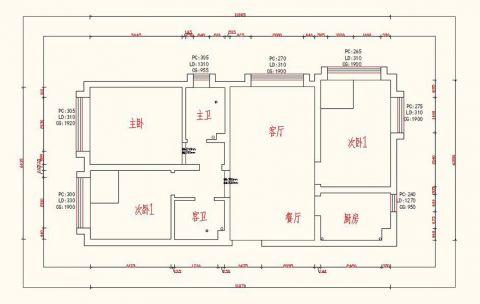 【时尚简约】三千渡105平米现代简约风格效果图装修设计