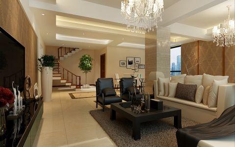 简约风格300平米别墅室内装修效果图