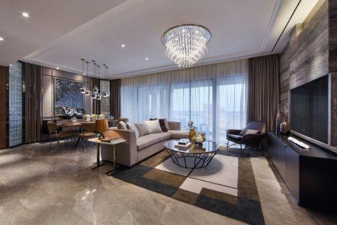 北欧风格138平米楼房室内装修效果图
