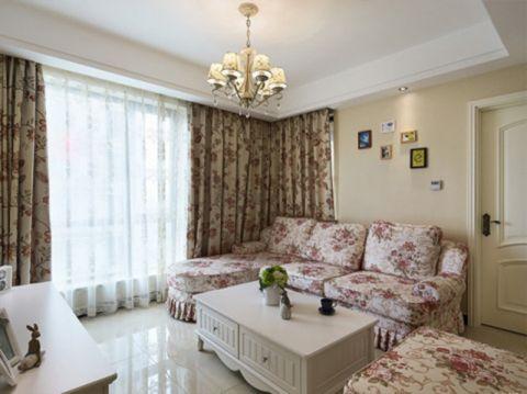 田园风格116平米三室两厅室内装修效果图
