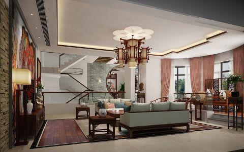 中式风格320平米别墅房子装饰效果图