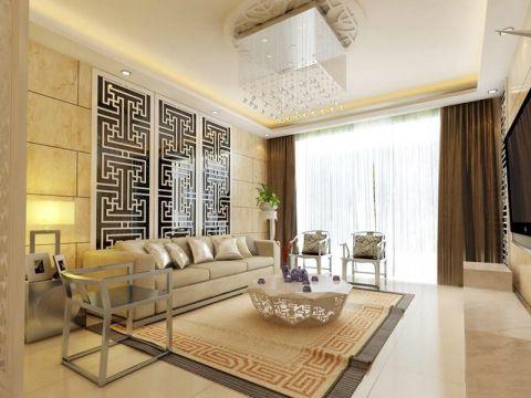 新中式风格134平米3房2厅房子装饰效果图