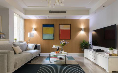北欧风格80平米两房两厅新房装修效果图
