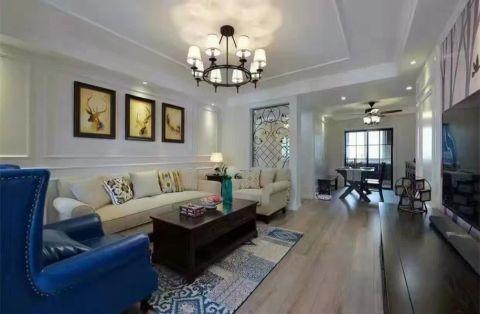 美式风格135平米三房两厅新房装修效果图