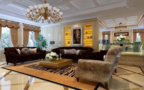 美式风格260平米四室两厅室内装修效果图