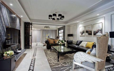 新古典风格134平米大户型房子装饰效果图