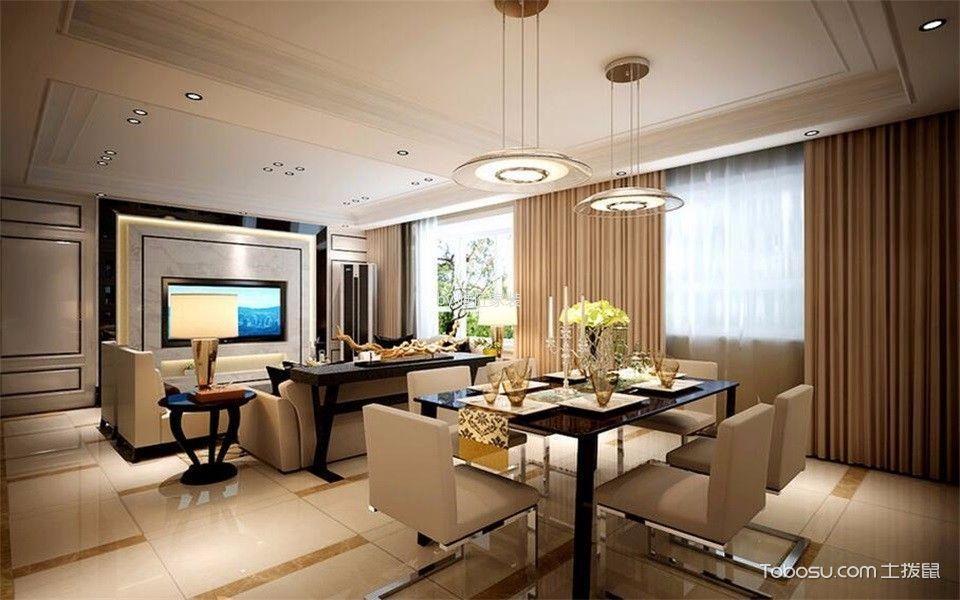 南京金地自在城140平米现代简约风格效果图